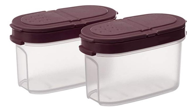 Signoraware Small Sprinkles N Spice Twin-Lid Storer Set, Set of 2, Maroon at rs.101