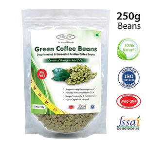 Sinew Nutrition Green Coffee Beans for Weight Management - 200 g + 50 g Free at Rs 139 only