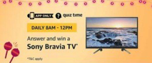 Sony Bravia TV amazon quiz
