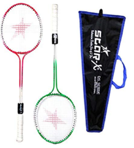 StarX Multi-Shaft Steel Badminton Racquet Set, Adult G4-3 3 4-inch (Multicolor)