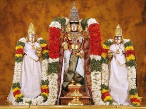Tirupathi Balaji Wall Sticker Lord Balaji Non-Tearable Poster for Home and Office Wall Decor