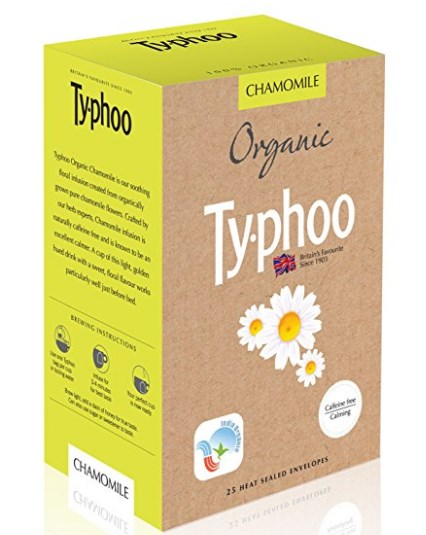 Typhoo Organic Chamomile, 25 Heat Sealed Tea Bags at rs.121