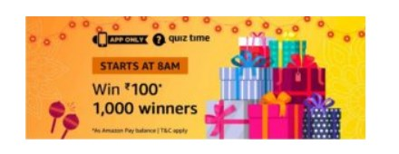 amazon quiz rs.100