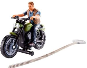 Action Figures Jurassic World Rip-Run Chasers Owen + Motorcycle
