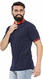 Amazon - Vivi Polo T-Shirt with Contrast Collor in Stylish Pattern for Men at Rs.199 + Free Delivery