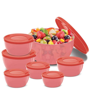 BMS Lifestyle BMS GoodDay Storex Fresh Plastic Bowl Package Container, Set of 7