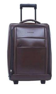BagsRUs Synthetic 34.010599999999997 cms Brown Softsided Cabin Luggage (CA114FBR)