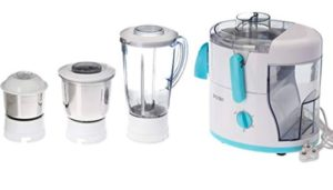 Baltra BJMG-105 550-Watt Juicer Mixer Grinder with 3 Jars (White)