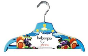 Belocopia Highflyers 6 Piece Plastic Kids Hanger, Assorted Colors
