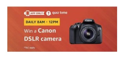 Canon Eos 1300D DSLR Camera amazon quiz