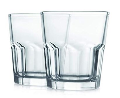 Cello Bello Glass Tumbler Set, 330 ml, Set of 2, Transparent
