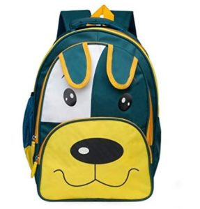 Chris & Kate JR. Green-Yellow Cartoon Design School Backpack for ChildrenKids(23 litres)