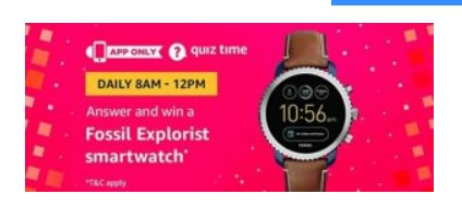 (Answers Added) Amazon Quiz : Answer and win a Fossil Explorist Smartwatch