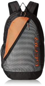 Gear 29 Ltrs Grey and Orange Casual Backpack