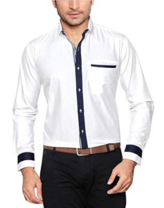 Global Rang White Casual Shirt for Men Slim Fit