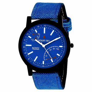 Golden Bell (Label) Analogue Blue Men's Watch in just rs.150