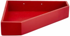 Home Sparkle Sh813 Wall Shelf, Set of 2 (Lacquer Finish, Red)
