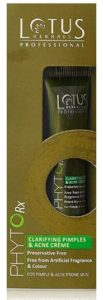 Lotus Professional Phyto Rx Clarifying Pimples and Acne Cream, 15g