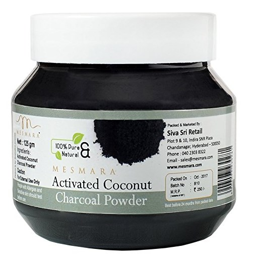 Mesmara Activated Coconut Charcoal Powder, 125g