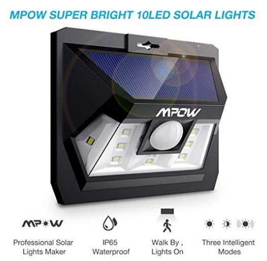 Mpow 10 LED Unqiue Design Motion Sensor Solar Street Lights with Upgraded Panel at rs.699