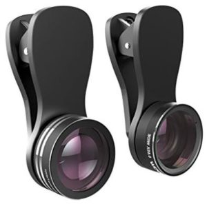 Mpow 3 in 1 Clip-on Lens Kit for Mobile Carmera with 180 Degree Fisheye Lens