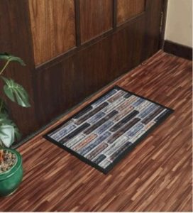 Multi Tiles Nylon 2 x 1 Feet Anti Skid Door Mat By Status