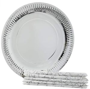 Origami Printed Plates 28 cm - 10 Pieces with Napkins 32 cm - 10 Pieces (Pack of 4) at rs.169