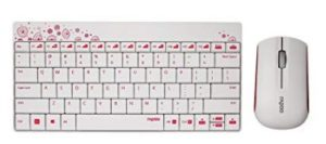 Rapoo 8000 Wireless Keyboard and Mouse Combo (White)