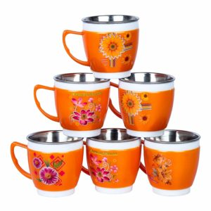 Samaira Toys stainless steel tea set as gift toy for girls and boys (Orange) at Rs.199 [Mrp.599]