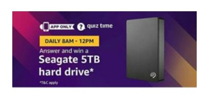 Seagate 5TB Hard Drive amazon quiz