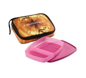 Signoraware Melody Big Slim Lunch Box with Bag, Pink at rs.181