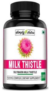 Simply Nutra Milk Thistle (Silymarin) for Healthy Liver Function