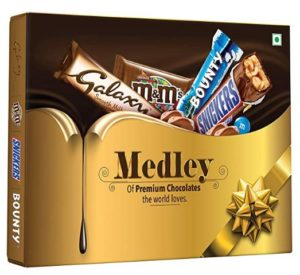Snickers Medley Assorted Chocolate Gift Pack, 137.6 gm at rs.59