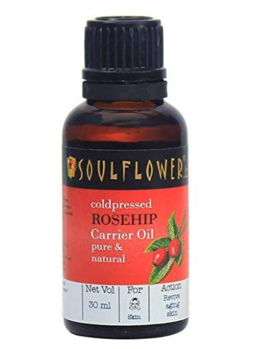 Soulflower Rosehip Oil for Wrinkles and Fine Lines, 30ml  at rs.404