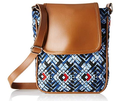 Spade Girl's Sling Bag (Navy Aztec)  at rs.231