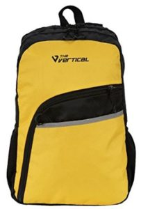 The Vertical 25 Ltrs Black and Yellow Casual Backpack (SLANT)