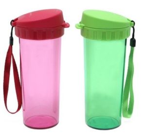 Tupperware Drinking 500 ml Sipper(Pack of 2, Red, Green)  at rs.699