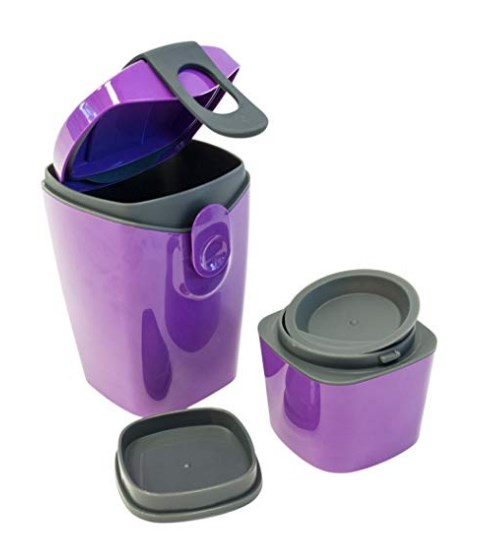 Unikia(Europe) - Compleat Energy booster Bottle w/ 3 compartments Lunch Box Suplement - Purple at rs.539