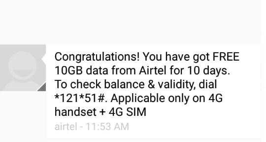 airtel 4g offer