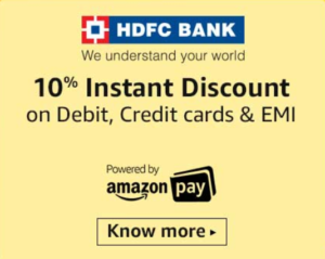 amazon great indian festival hdfc offer 10 discount