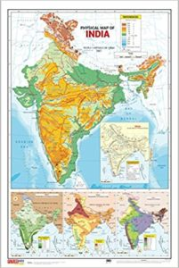 Amazon Buy India Map Physical 50 8cm X 76 2cm At Rs 90 Only