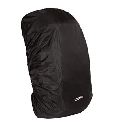 Amazon Brand - Solimo Rain & Dust Cover for Backpack (50 litres, Black)