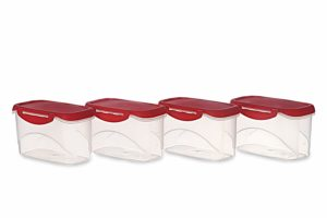 Amazon - Buy All Time Plastics Delite Container Set, 750ml, Set of 4 at Rs. 131