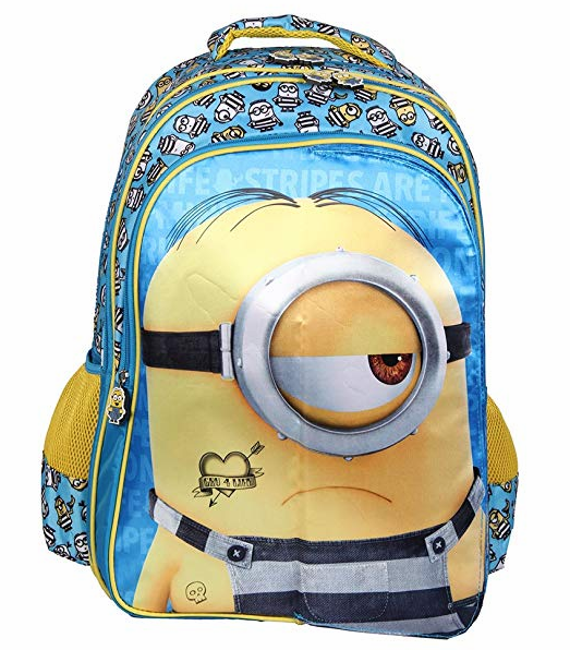 Despicable Me Blue and Yellow School Backpack (MBE-MIN223)