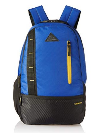 Gear 24 Ltrs Royal Blue and Yellow Casual Backpack