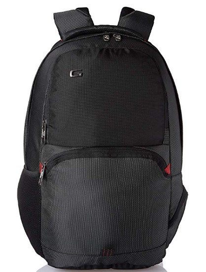 Gear 27 Ltrs Black and Red Casual Backpack (LBPLSTBUS0109)
