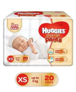 Huggies Ultra Soft Premium Pants For New Baby 20 Pieces