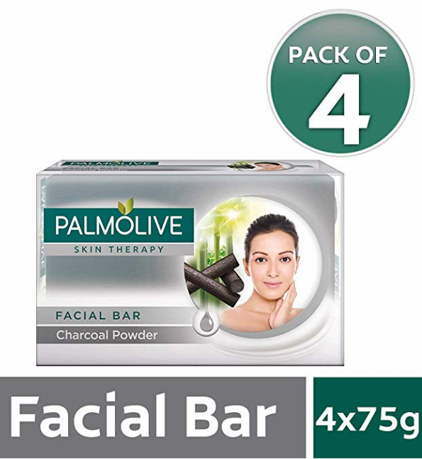Palmolive Skin Therapy Bar with Charcoal Powder – 75 gm (Pack of 4)