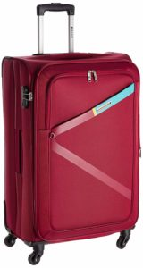 Safari Polyester 74.5 cms Red Softsided Suitcase
