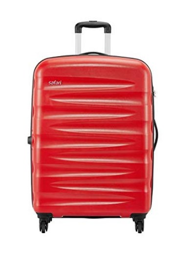 Safari Wedge Polycarbonate 55 cms Scarlet Red Hardsided Cabin Luggage